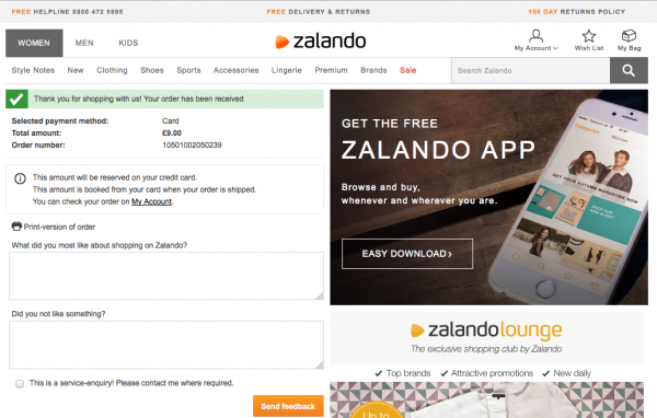 zalando UK survey